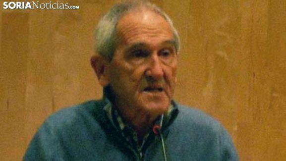 El padre Ángel Olaran en una visita a Soria. /SN