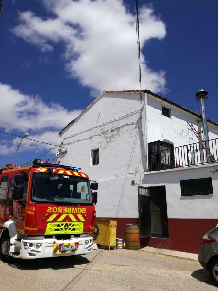 Chimenea en cuestión. Diputación de Soria