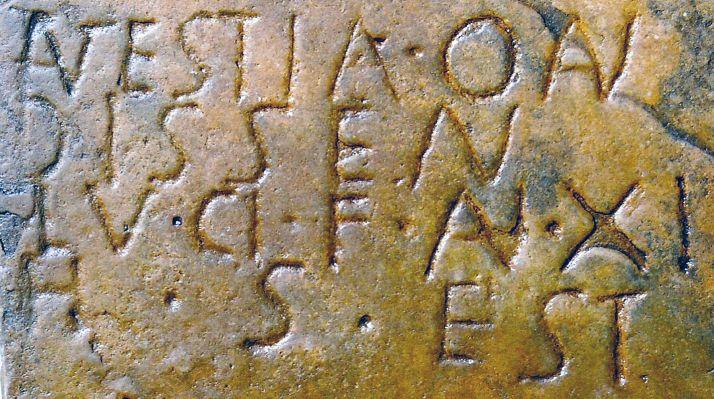 Una de las inscripciones recuperadas. /Idoubeda Oros