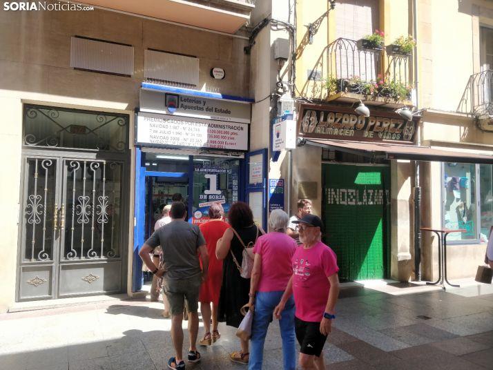 La Adminsitración número 1 de Loterías de Soria durante este puente. SN