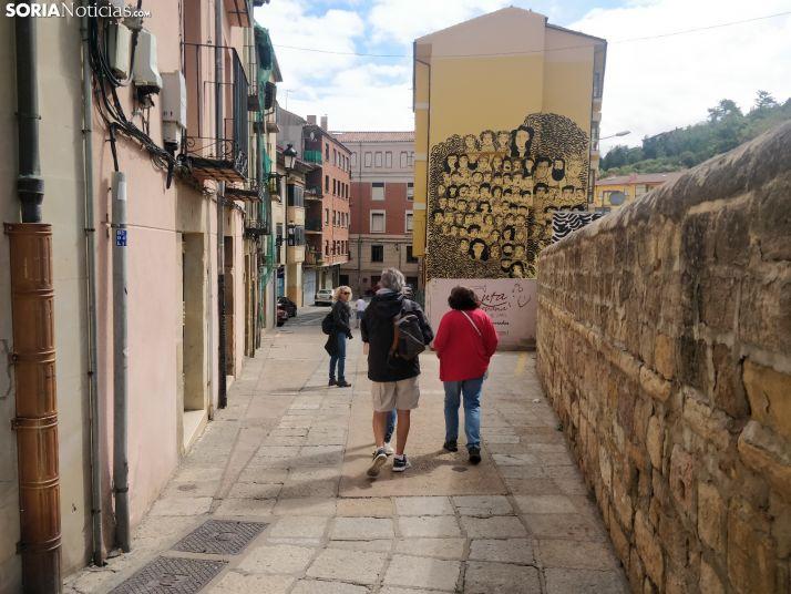 Turistas en la Calle Mayor. SN