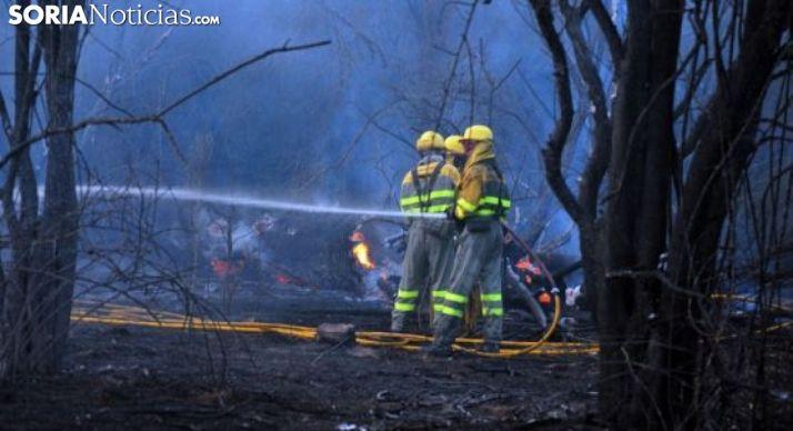 Incendio forestal en una imagen de archivo.