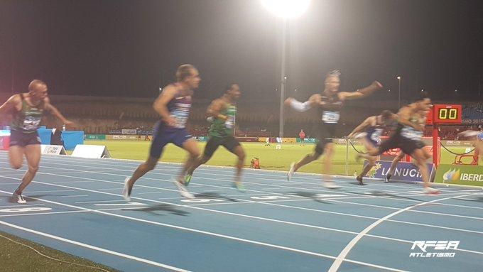 Mario López Moure, cuarto en la final de los 100 metros lisos. RFEA