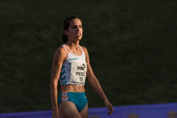 Marta Pérez logra el billete para acudir al Mundial de Doha. Imagen obtenida en la cuenta de la propia atleta