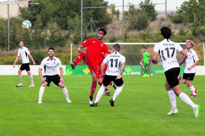 El Numancia cerró la pretemporada en la Ciudad del Fútbol ante el Burgos CF. /Soria Noticias