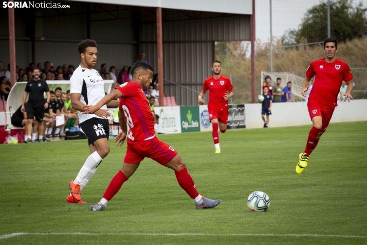 Gus Ledes, titular ante el Burgos CF en la Ciudad del Fútbol. SN