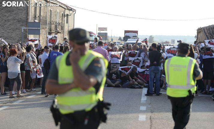 Imagen de archivo de la concentración de la Soria ¡Ya! en Villaciervos.