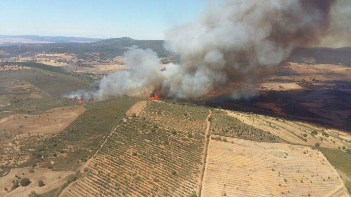 Incendio en Serradilla del Arroyo.