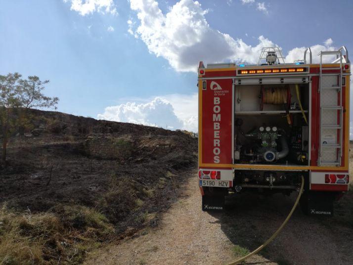 Incendio sofocado en Almazul.