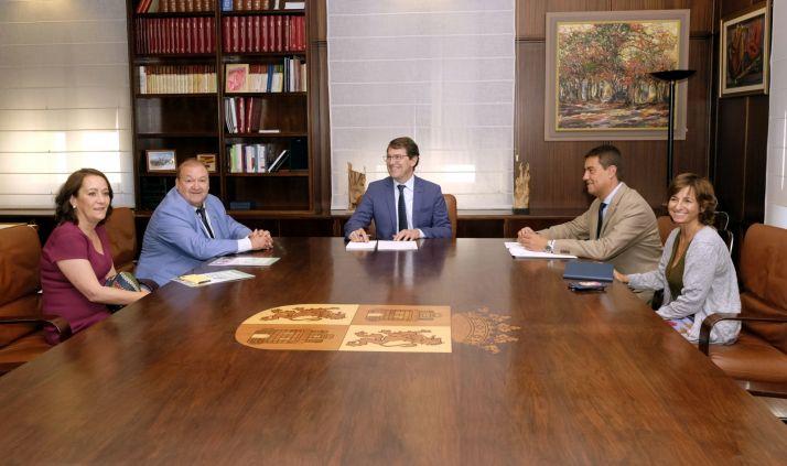Reunión mantenida esta mañana. Junta de Castilla y León