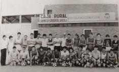 Futbolistas del Soria CF, entidad que dinamizó el fútbol base en Soria. Soria CF