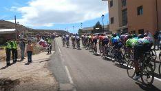 Una imagen de La Vuelta a su paso por la provincia.