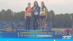 Carmen Romero, campeona de los 400mv en La Nucia. RFEA
