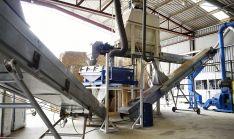 Instalaciones de la unidad de biomasa en el Céder.