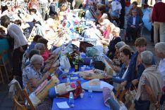 Encuentro de encajeras de bolillos en Soria. /S.N.