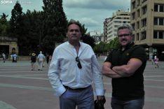 Vicente Granados (izda.) y José Luis Cepes, de ASES-GC. /Pedro Calavia.