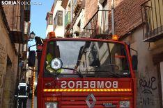Intervención de los bomberos en la calle Zapatería.
