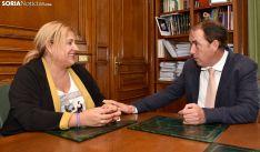 De Gregorio y Serrano este jueves en el despacho de Presidencia del Palacio Provincial. /SN