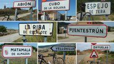 De la A a la Z; un paseo en bicicleta por los carteles de los 500 pueblos de la provincia de Soria