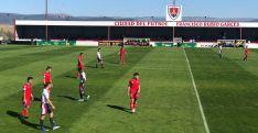 El Numancia DH no pasa del empate (0-0) ante la UD Mutilvera en la Ciudad del Fútbol. CD Numancia