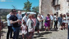 Una imagen de la procesión ya en la ermita. /SN