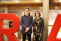 Dani Mateo y Marta Pérez, galardonados en la Gala Provincial del Deporte soriano. SN