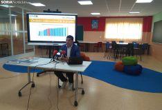Óscar Abellón, director de Escolapios Soria, presenta los resultados.