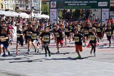 Los atletas más jóvenes tomaron Soria este sábado.
