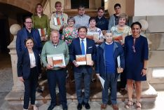 Foto de familia del homenaje hoy en Ágreda.