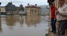 Imagen de una inundación en Salduero por la crecida de los afluentes Triguera y Arlanza. /SN