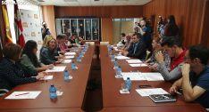 Una imagen de la reunión esta tarde. /SN
