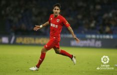 Celebración del gol de Alberto Escassi. LFP