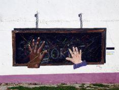 El mural titulado 'Futuro'.
