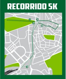 Recorridos del 5k y la media maratón