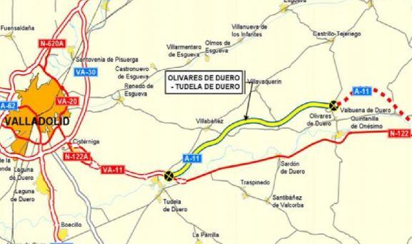 Imagen de mapa del tramo adjudicado. /Fomento