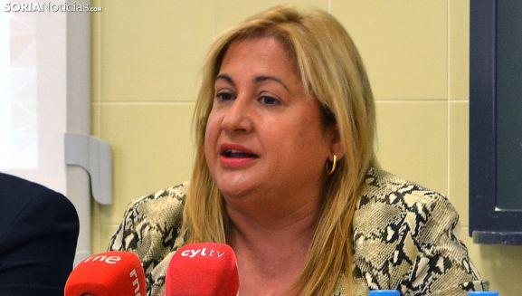 Yolanda de Gregorio este jueves ante los medios informativos. /SN