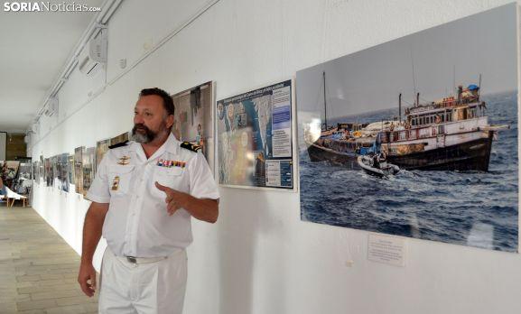 El subteniente Santos, de la Armada y destinado en Soria. /SN