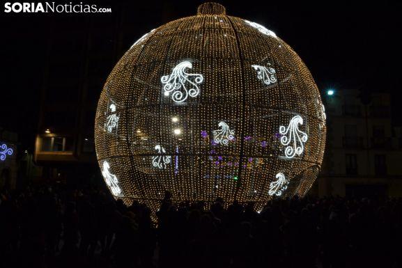 Imagen de la bola de Navidad del pasado año. /SN