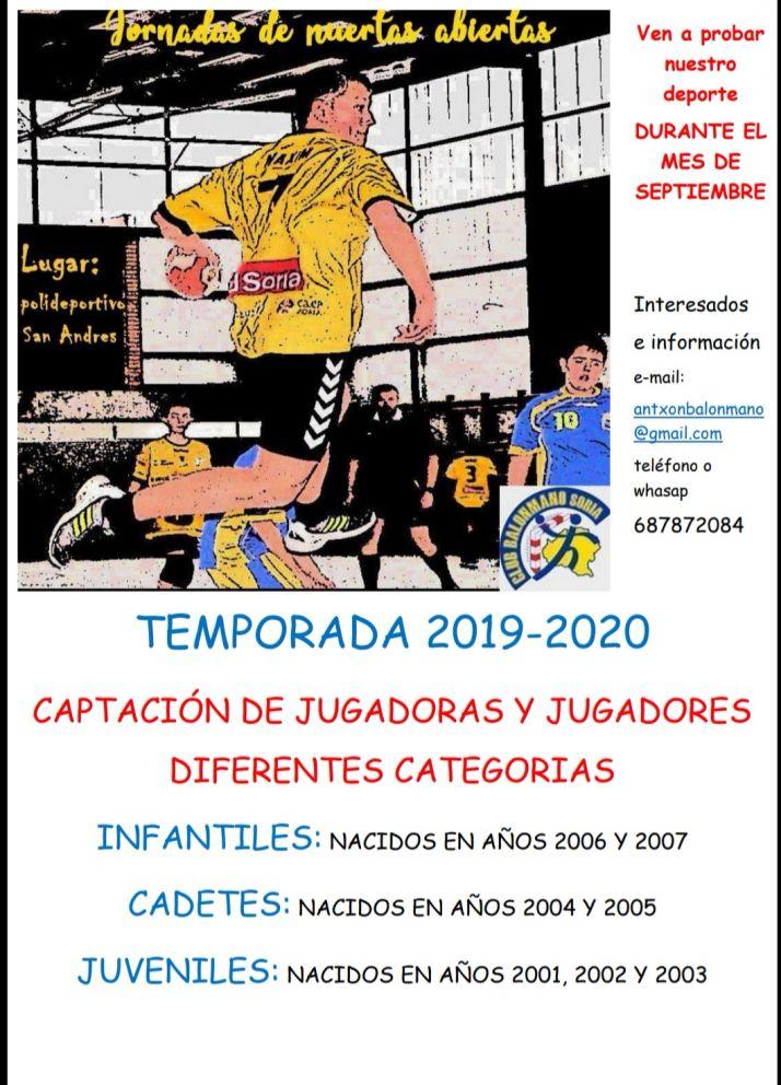 Foto 2 - El BM Soria capta jugadores para su cantera