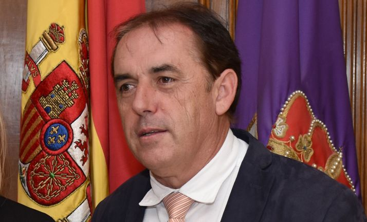 Benito Serrano, este jueves en el Palacio Provincial. /SN