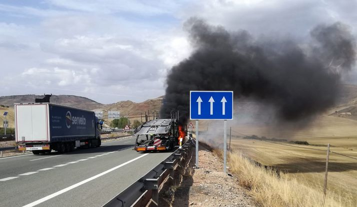 El camión en el siniestro. /Diputación