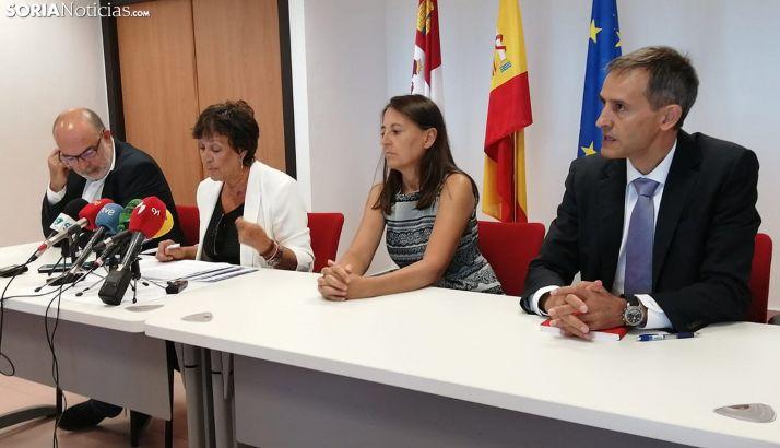 De izquierda a derecha, Latorre, Martín, Esteban y Navas. /SN