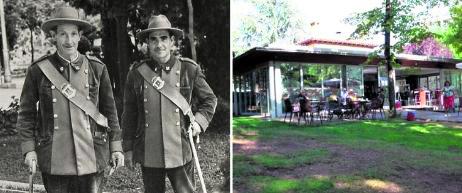 2013 Cuando la Dehesa tenía guardas, en la foto los de los años 70, estos tenían en el alto su casa. El edificio es hoy un establecimiento hostelero.  fotos: ahpso 5660/sn