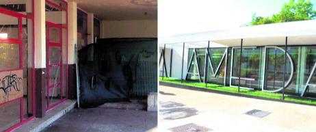 2019 El antiguo Bar-Restaurante Alameda, tras varios años de abandono y suciedad, se convierte en un espacio cultural con salas polivalentes que contará con ludoteca y cafetería. fotos: sn/p.c.