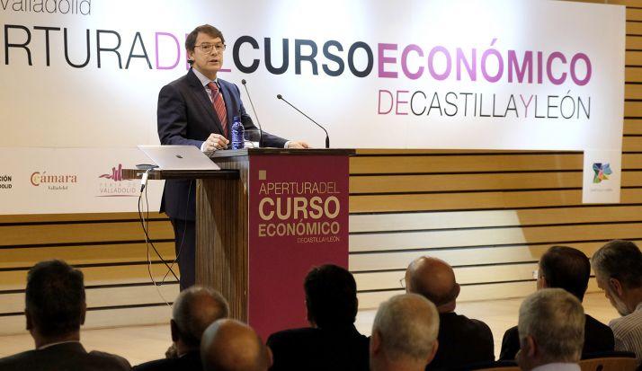 Alfonso Fernández Mañueco, en su intervención este miércoles en Valladolid. /Jta.