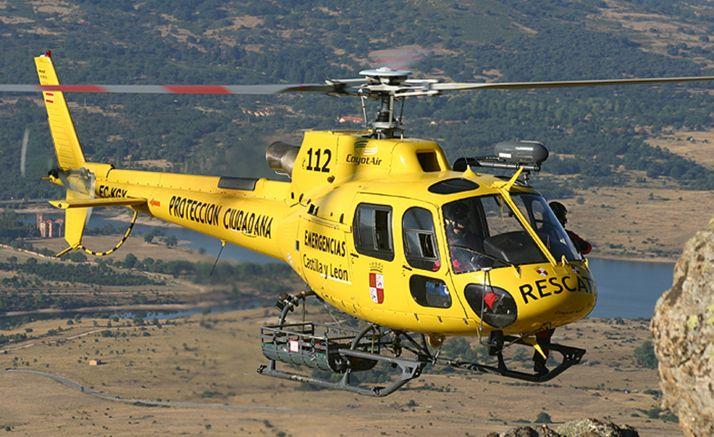 Foto 1 - Rescatado en helicóptero tras lesionarse en el pico Cabeza Santa de Ávila