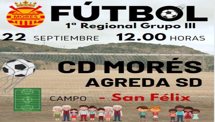 Foto 1 - La SD Ágreda se lleva un saco de goles (6-0) en su visita al CD Morés