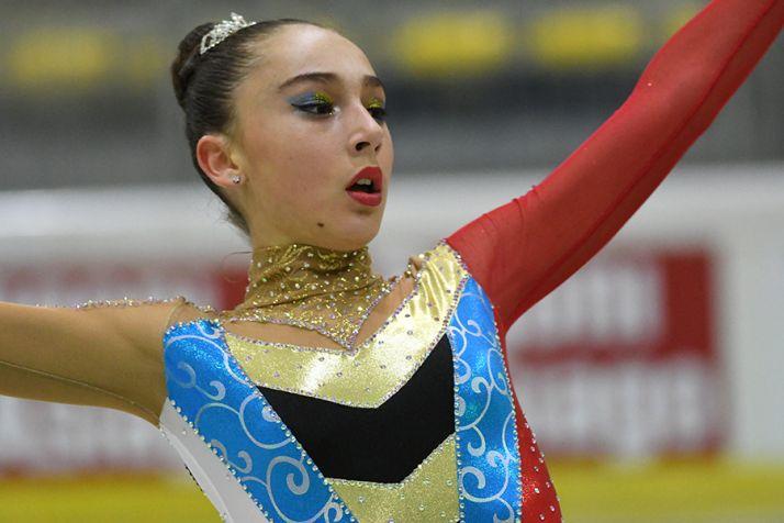 La soriana Ángela Díaz, oro de patinaje artístico en la Copa de Europa de Roana