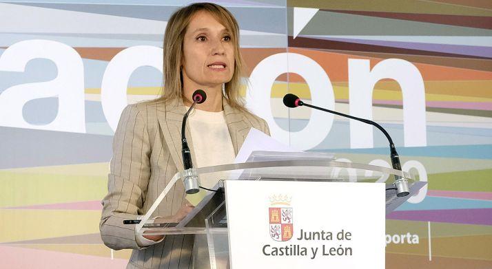 Rocío Lucas, este miércoles en comparecencia oficial. /Jta.