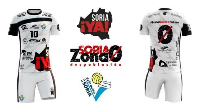 Foto 2 - Río Duero de voleibol y Soria Ya, juntos para revindicar el futuro de la provincia
